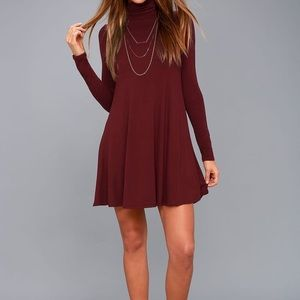 Lulu's SWAY, GIRL, SWAY! WINE RED SWING DRESS